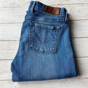 Lucky Brand Sofia Straight Leg Distressed Jeans